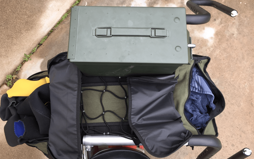 Motorcycle Surf Cargo Setup